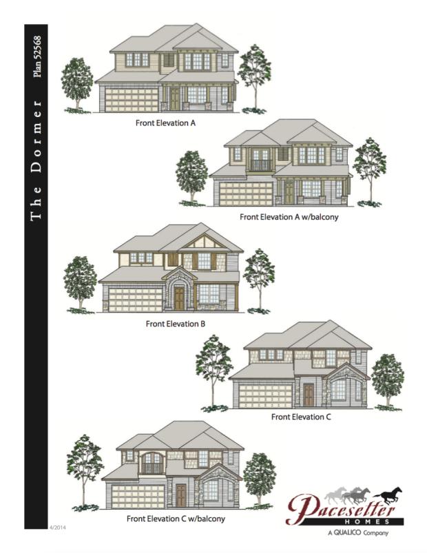 Front Elevation Balcony Designs: Dormer Floor Plan & Elevations